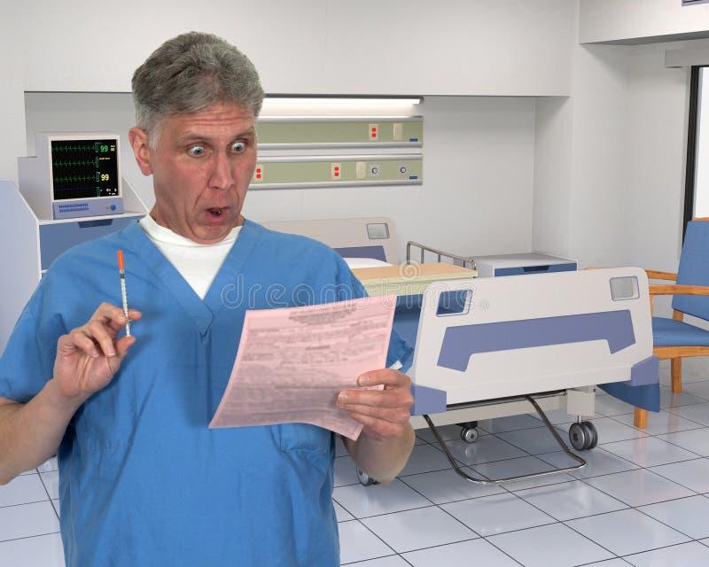 Cartelle sanitarie divertenti di HIPAA fotografia stock
