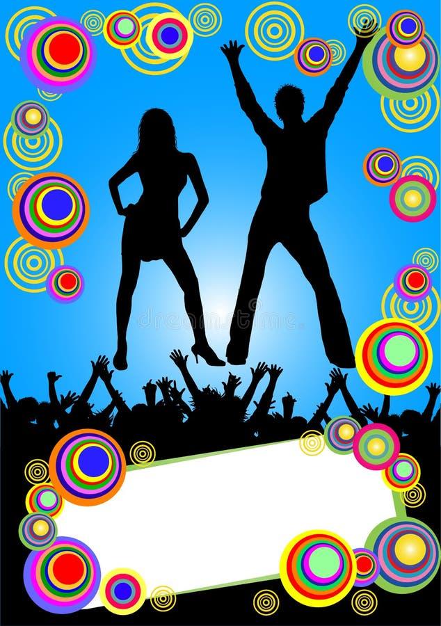 Cartello blu della discoteca illustrazione vettoriale