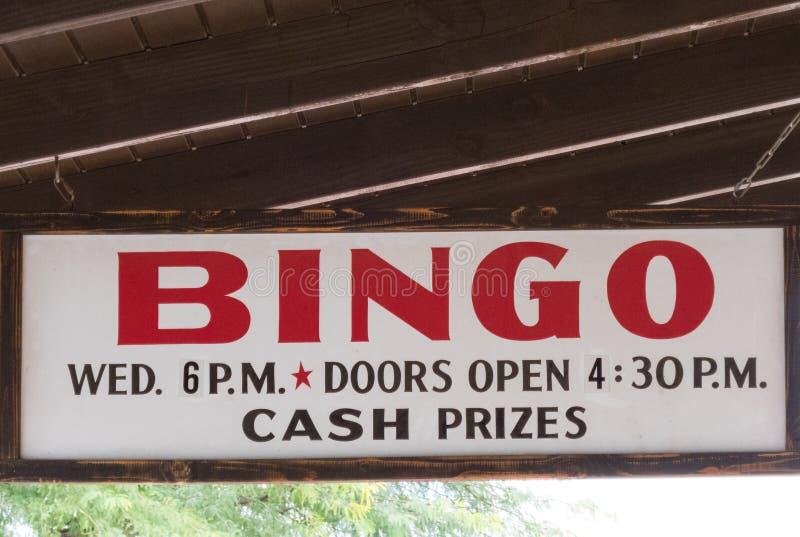 Cartello del bingo, premi in contanti fotografia stock libera da diritti