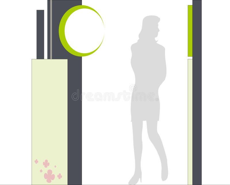 Cartello della galleria fotografia stock