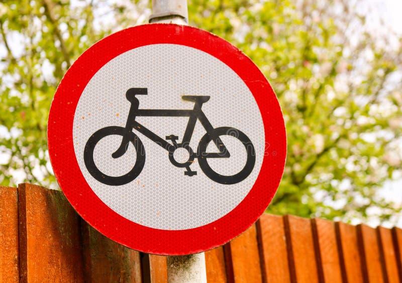Cartello della pista ciclabile fotografia stock