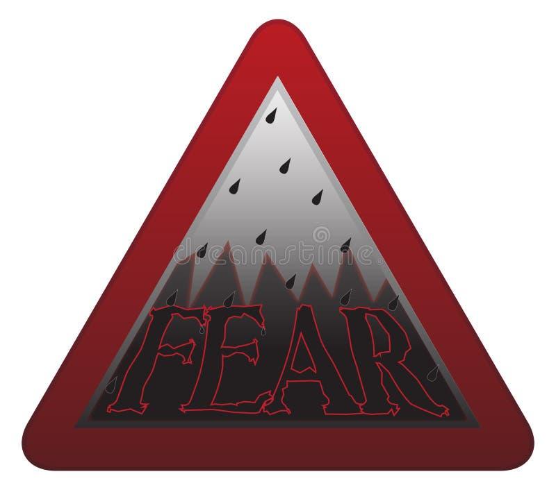 Cartello di timore illustrazione di stock