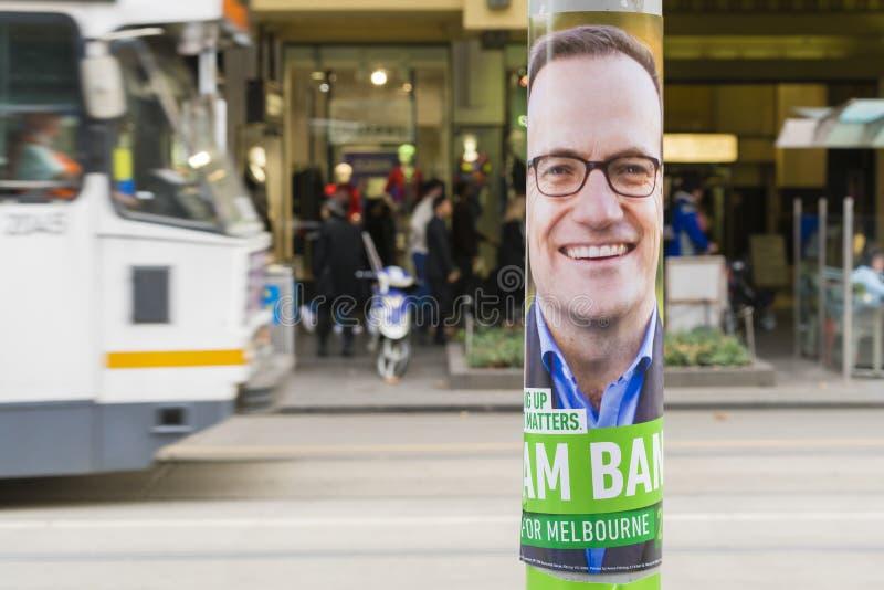 Cartellone elettorale federale a Melbourne fotografia stock