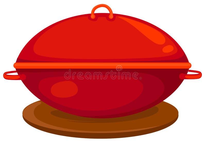 Carter rouge illustration de vecteur