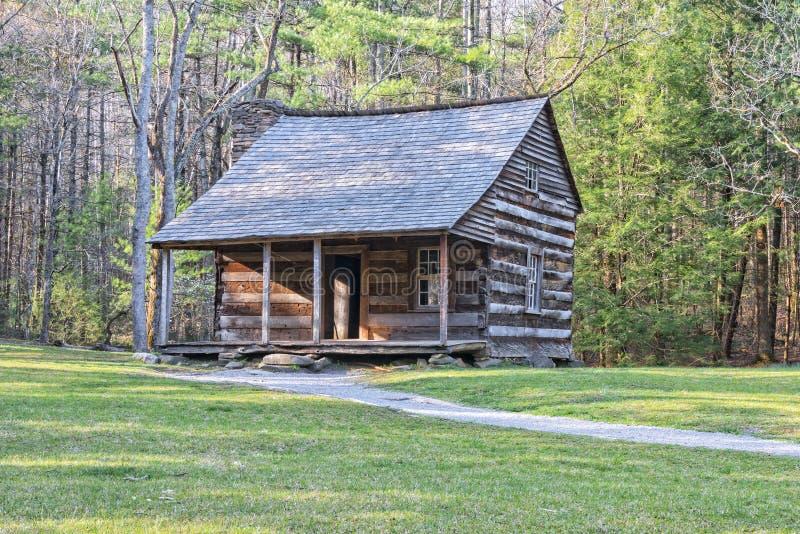 Carter Shields Cabin dans la crique de Cades photo stock