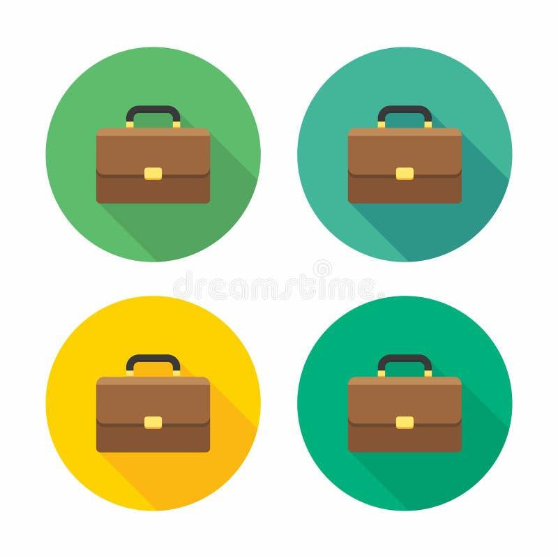 Cartera, bolso, maleta de la oficina de negocios, cartera del negocio, ejemplo, aislado, finanzas, vector, icono plano libre illustration