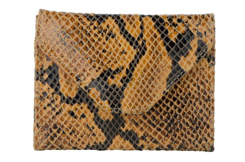 Cartera de la piel de la serpiente imagen de archivo