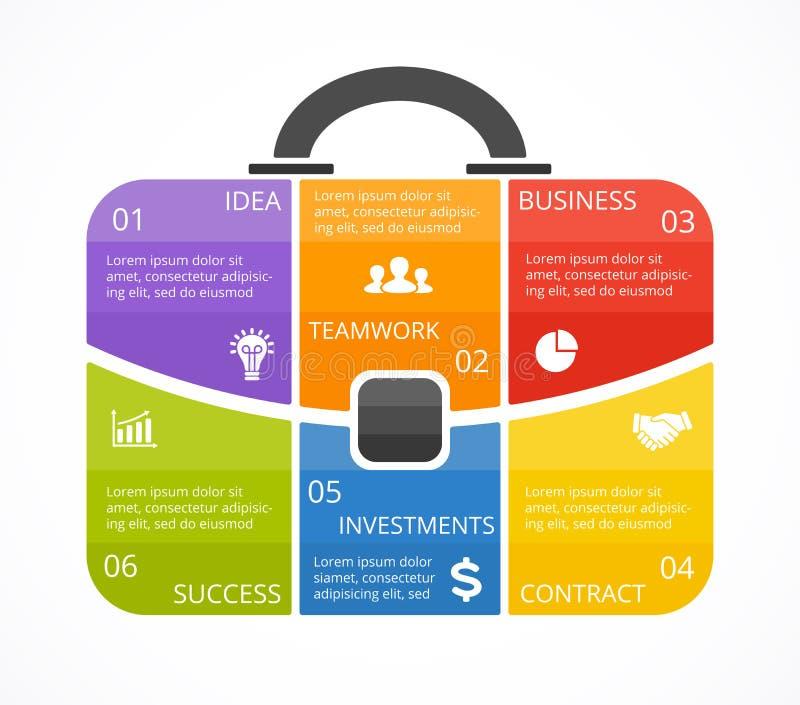 Cartera Del Vector Infographic Plantilla Para El Diagrama Del Bolso ...