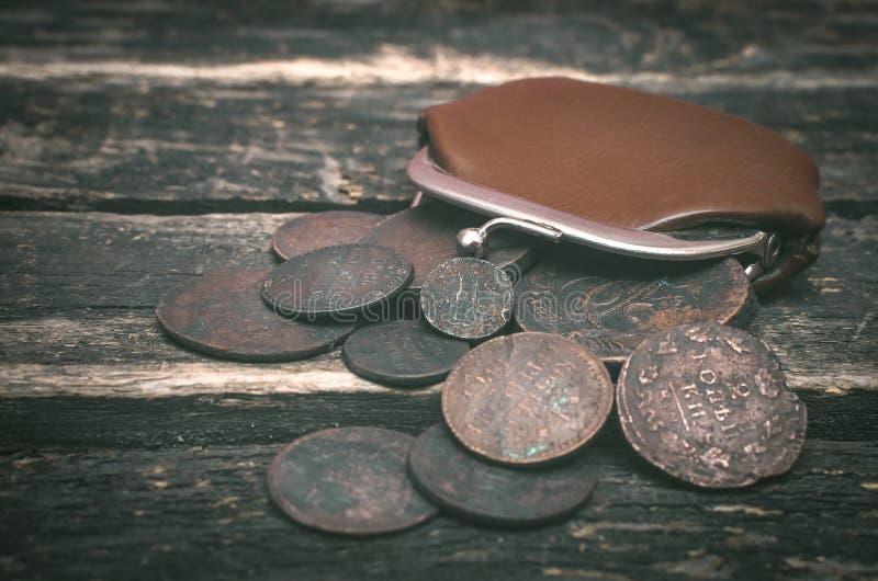 Cartera y dinero fotografía de archivo