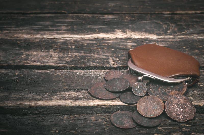Cartera y dinero imagen de archivo
