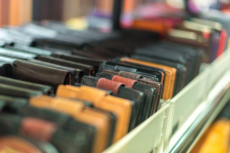 Carteras de cuero fotografía de archivo libre de regalías