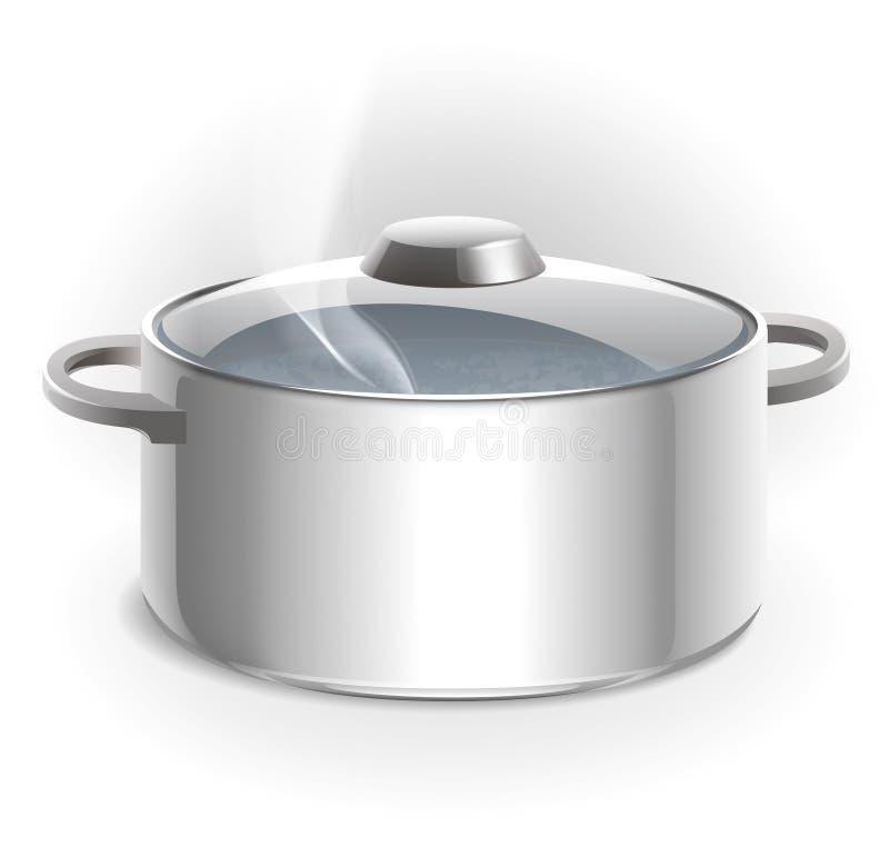 Carters en métal. cuisson illustration de vecteur
