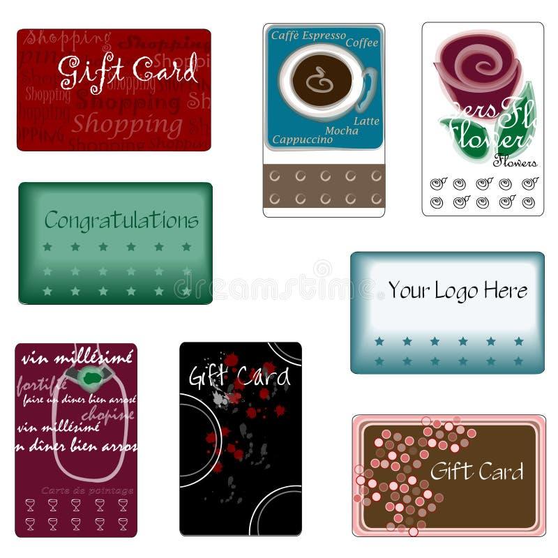 Cartes assorties de cadeau photographie stock libre de droits