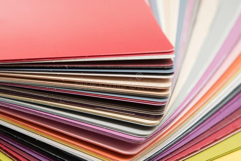 Cartes brillantes de plastique de PVC images libres de droits
