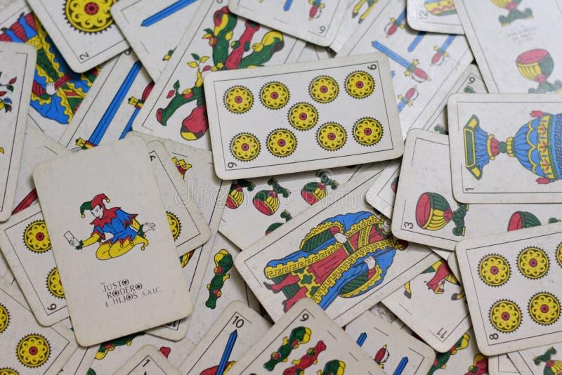 Cartes brouillées rectifiées photo libre de droits