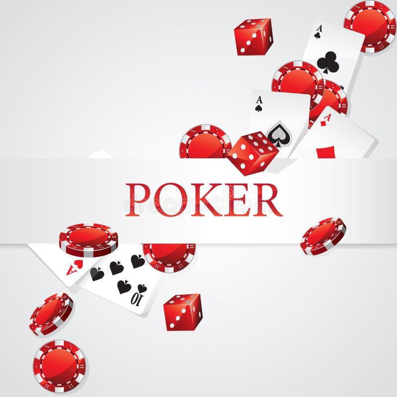 Cartes Chips Dice Poker illustration stock