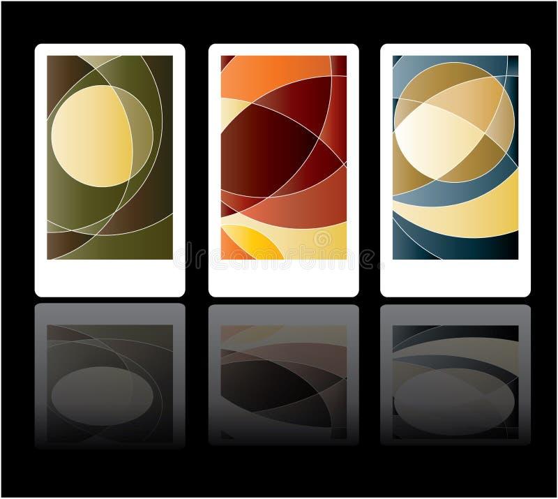 Cartes colorées illustration libre de droits