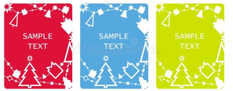 Cartes d'étiquettes de Noël illustration de vecteur