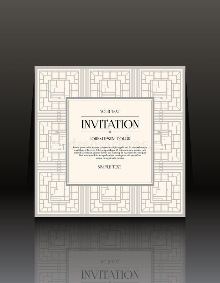 Cartes d'invitation de vintage avec l'ornement illustration libre de droits