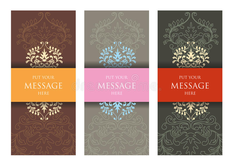 Cartes d'invitations de mariage illustration de vecteur