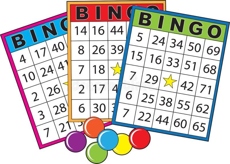 Cartes de bingo-test illustration libre de droits