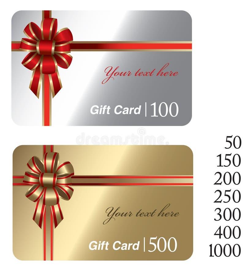 Cartes de cadeau illustration de vecteur
