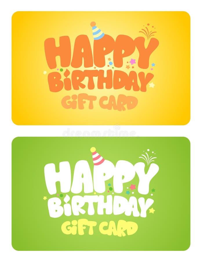 Cartes de cadeau d'anniversaire. illustration libre de droits