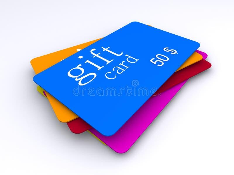 Cartes de cadeau du dollar illustration de vecteur