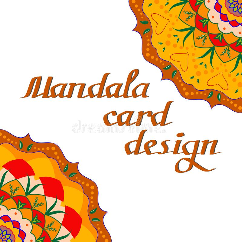 Cartes de conception de mandala d'affaires Éléments décoratifs illustration stock