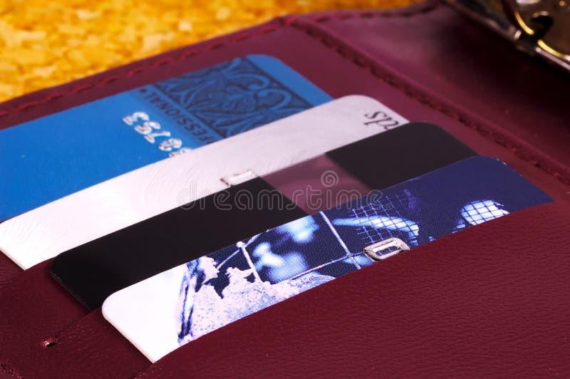 Cartes de crédit image libre de droits
