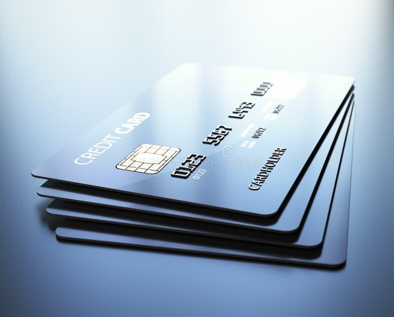 Cartes de crédit illustration stock