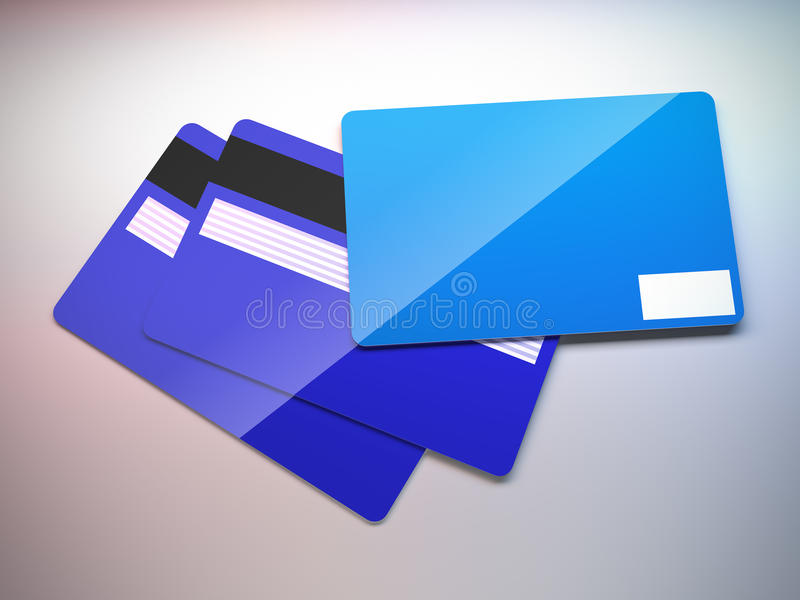 Cartes de crédit en plastique. illustration de vecteur