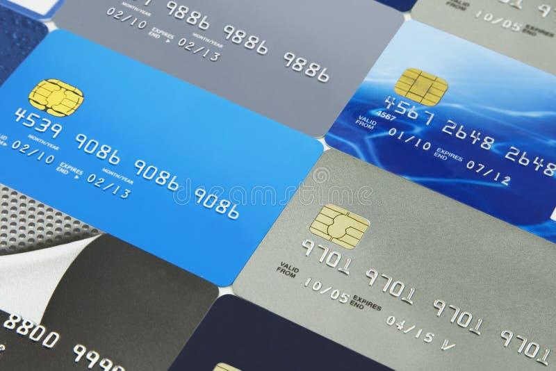 Cartes de crédit et cartes de banque images stock