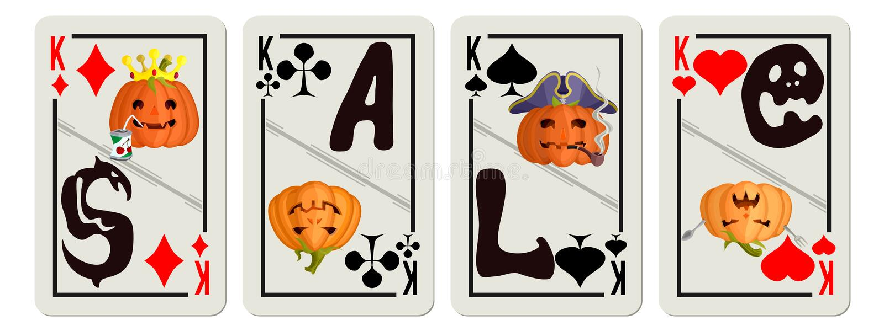 Cartes de jeu avec des remises d'une inscription illustration de vecteur