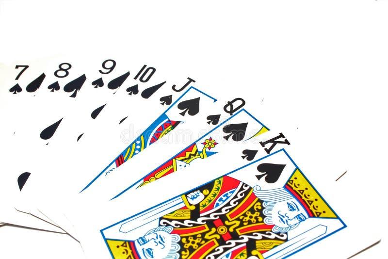 Cartes de jeu classiques - cosses illustration libre de droits