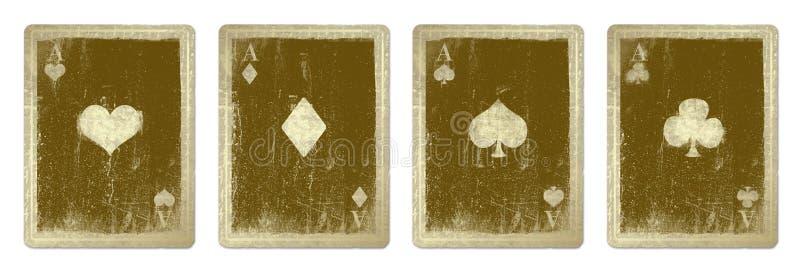 Cartes de jeu de cru illustration de vecteur