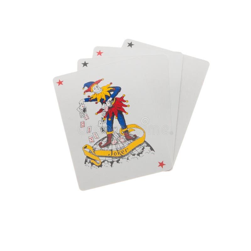 Cartes de jeu de joker image stock