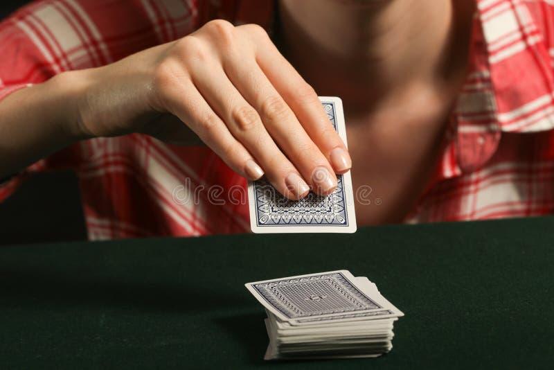 Cartes de jeu de fille photos libres de droits