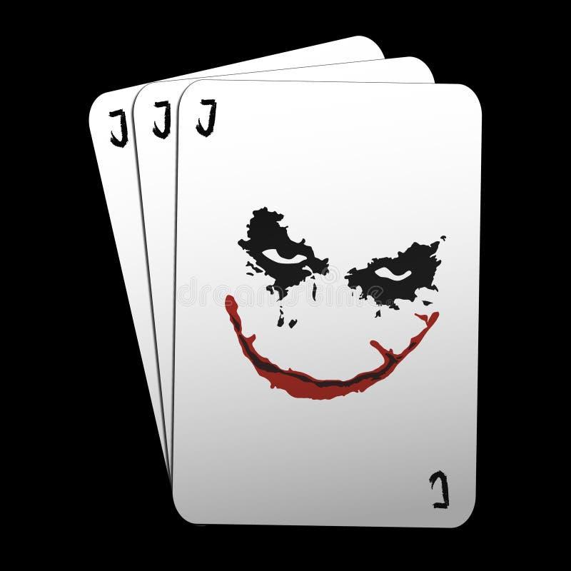 Cartes de joker illustration stock