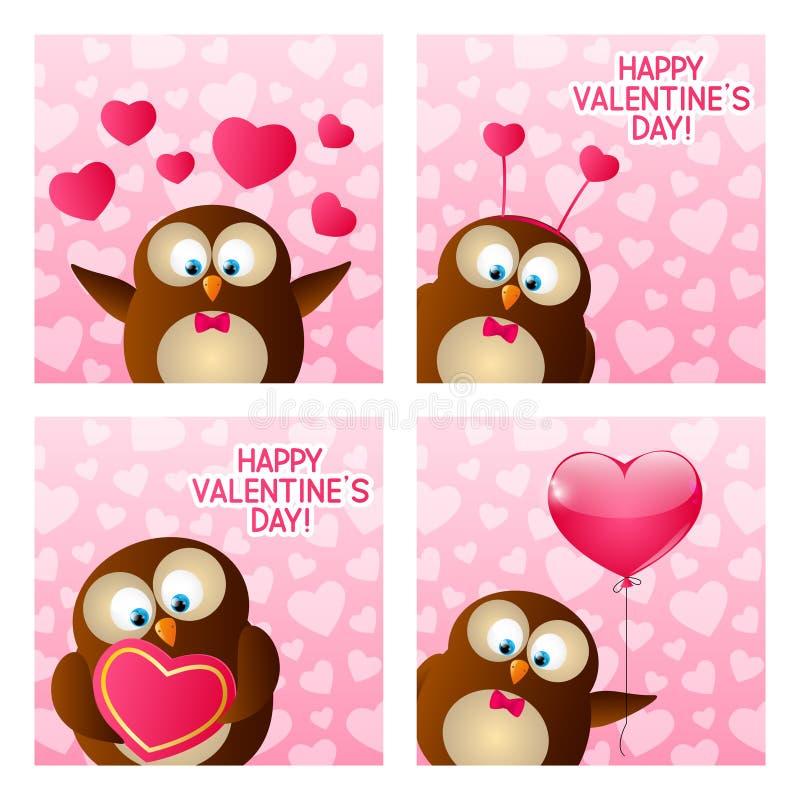 Cartes de jour de valentines illustration stock