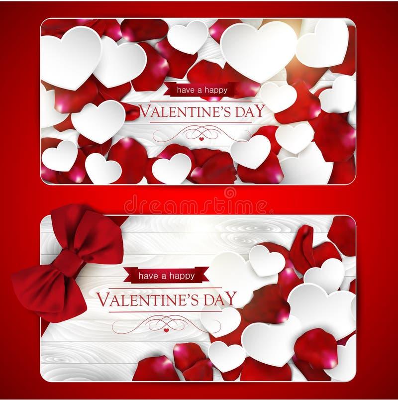 Cartes de jour de valentines avec l'arc illustration libre de droits