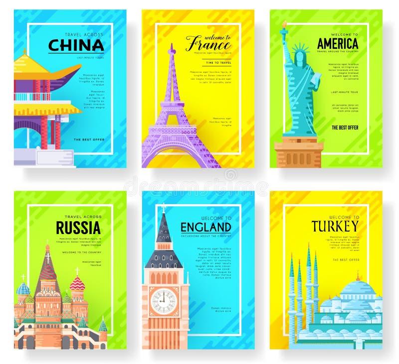 Cartes de l'information de voyage Aménagez le calibre en parc de flyear, magazines, affiches, couverture de livre, bannières Page illustration stock