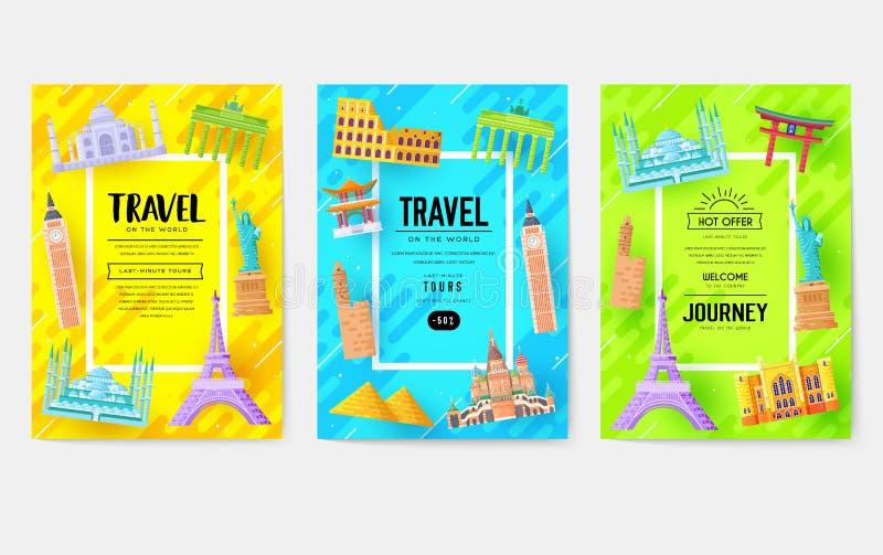 Cartes de l'information de voyage Aménagez le calibre en parc de l'insecte, magazines, affiches, couverture de livre, bannières P illustration stock