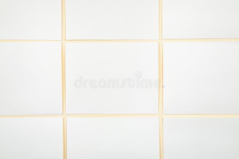 Cartes de livre blanc de blanc sur un fond mou de couleur, maquette de cartes de visite professionnelle de visite photos libres de droits