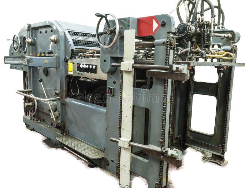 Cartes de machine et d'impression de perforation photos libres de droits