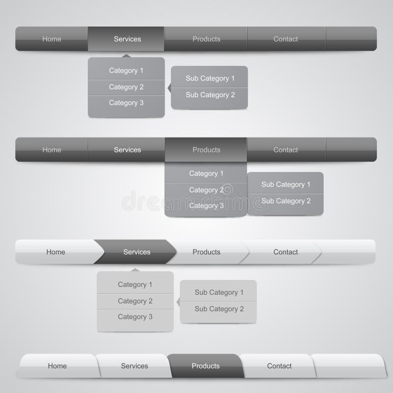 Cartes de navigation de Web illustration de vecteur