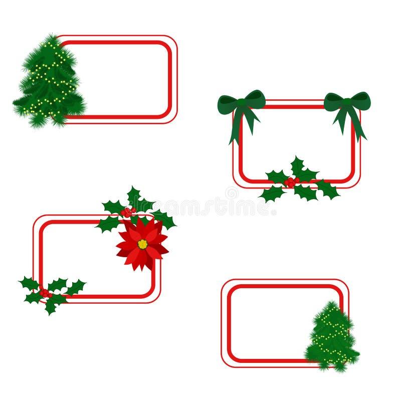 Cartes de Noël illustration libre de droits