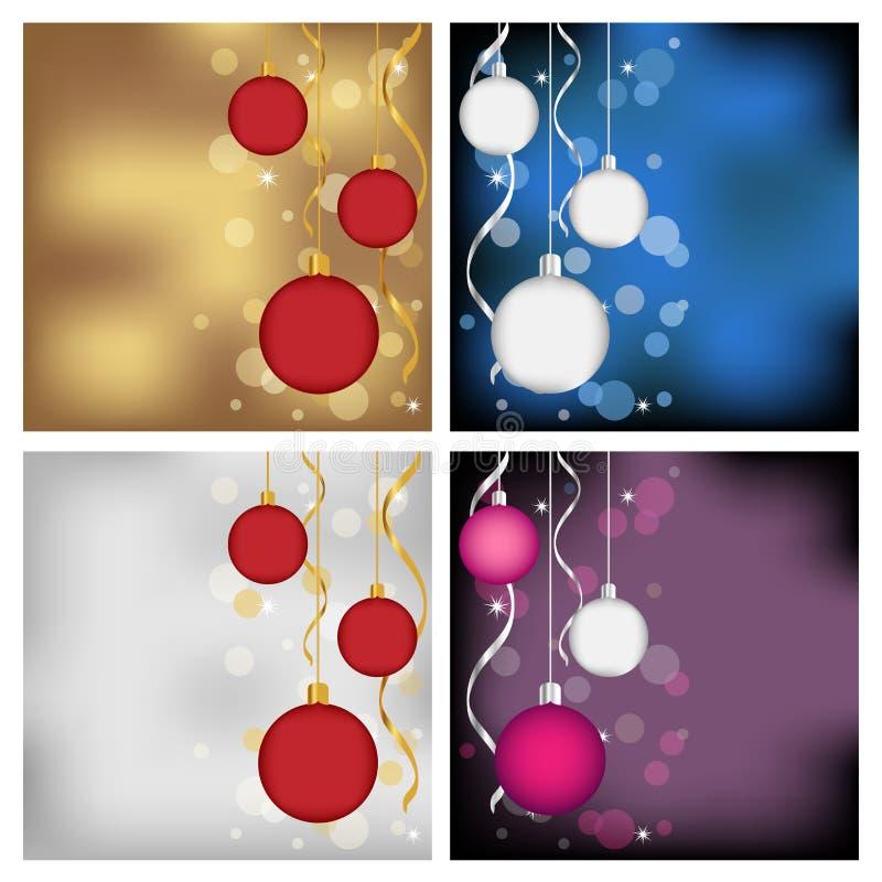 Cartes de Noël illustration stock