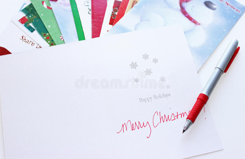 Cartes de Noël photo stock