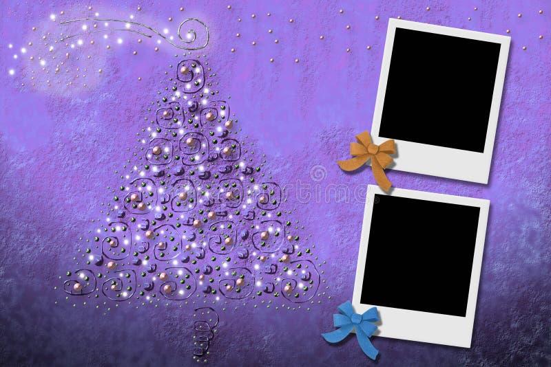 Cartes de Noël de deux trames de photo illustration libre de droits